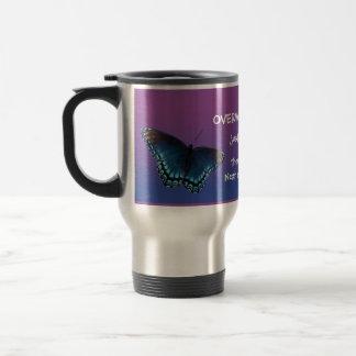 butterfly dragonfly insirational message mug 15e