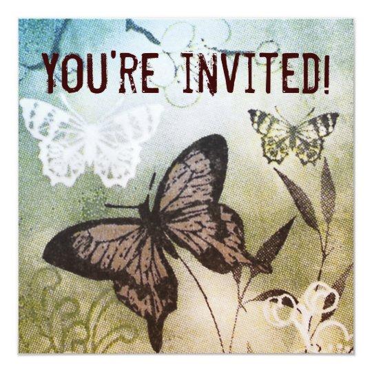 Butterfly Dream Birthday Invitation