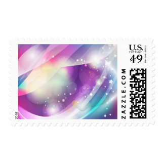 Butterfly Dream Blue Purple Vector Art Postage Stamp