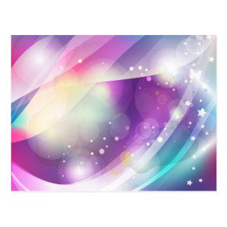 Butterfly Dream Blue Purple Vector Art Postcard