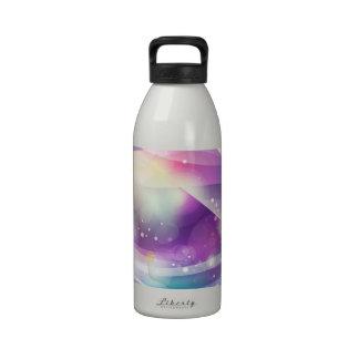 Butterfly Dream Blue Purple Vector Art Water Bottles