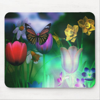 Butterfly dream garden mouse pad