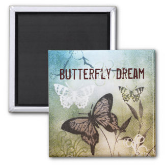 Butterfly Dream 2 Inch Square Magnet