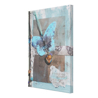 Butterfly Dream Mixed Media Wrapped Canvas Canvas Print