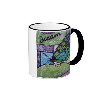 Butterfly Dream Ringer Coffee Mug