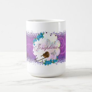 Butterfly Dream Scene Jeweled NAME Coffee Mug