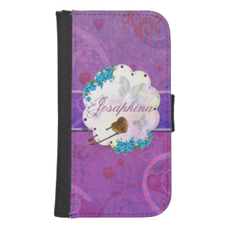Butterfly Dream Scene Jeweled NAME Phone Wallet