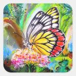 Butterfly Dream Square Sticker