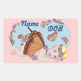 butterfly Dreaming Rectangular Sticker