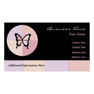 Butterfly Dreams $10 Punch Cards Business Card Template