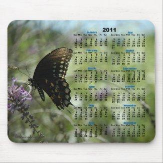 Butterfly Dreams 2011 Calendar Mousepad mousepad