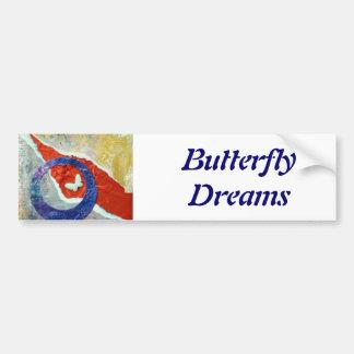 Butterfly Dreams - collage Car Bumper Sticker