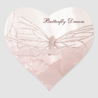 Butterfly Dreams collection Heart Sticker