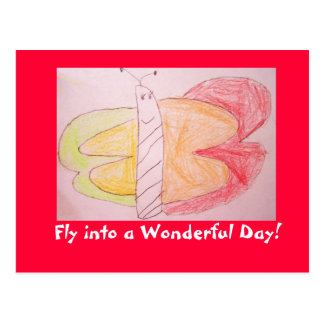 butterfly dreams, Fly into a Wonderful Day! Postcard