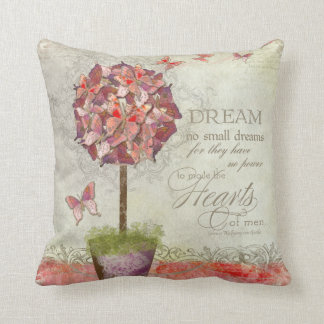 Butterfly Dreams Swirl Tree Inspirational Chic Pillow