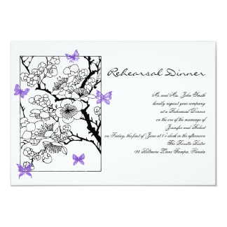 Butterfly Dreams: Violet Wedding Rehearsal Card
