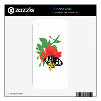 Butterfly Drinking Nectar Decals For iPhone 4