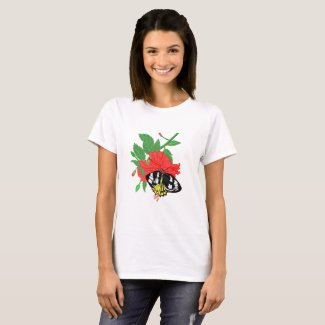 Butterfly Drinking Nectar T-Shirt