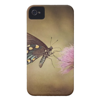 Butterfly drinking necter from flower iPhone 4 Case-Mate case