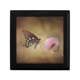 Butterfly drinking necter from flower jewelry box