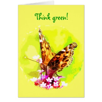 Butterfly Earth Day Card