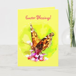Butterfly Easter Greeting Cards