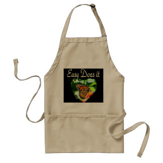 BUTTERFLY EASY DOES IT PHOTO ADULT APRON