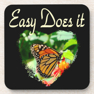 BUTTERFLY EASY DOES IT PHOTO COASTER