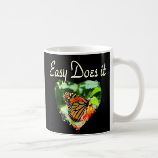 BUTTERFLY EASY DOES IT PHOTO COFFEE MUG
