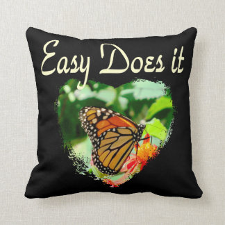 BUTTERFLY EASY DOES IT PHOTO THROW PILLOW