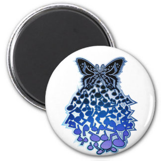 Butterfly_Effect 2 Inch Round Magnet