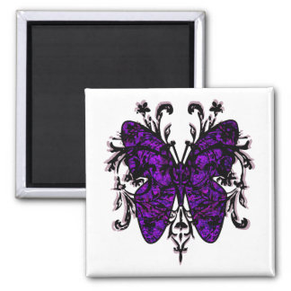 Butterfly Effect (purple) 2 Inch Square Magnet