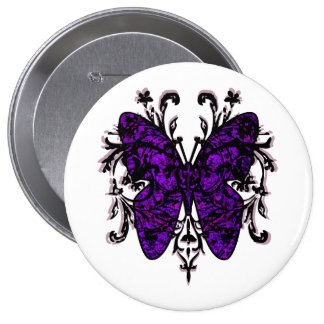 Butterfly Effect (purple) 4 Inch Round Button