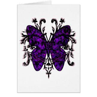 Butterfly Effect (purple) Greeting Card