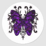 Butterfly Effect (purple) Round Stickers