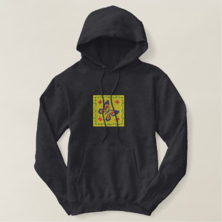 Butterfly Embroidered Hoodie