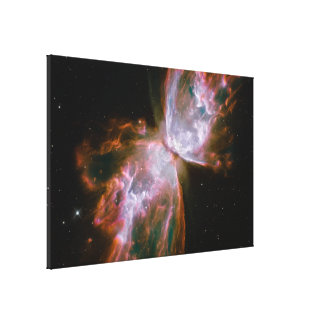 Butterfly Emerges from Stellar Demise in Planetary Canvas Print