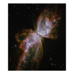 Butterfly Emerges from Stellar Demise in Planetary Poster