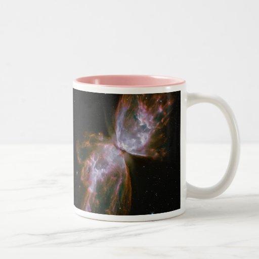 Butterfly Emerges Nebula coffee Two-Tone Coffee Mug