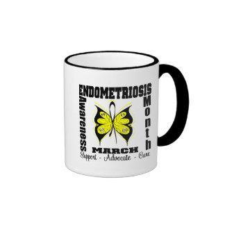 Butterfly Endometriosis Awareness Month Coffee Mugs