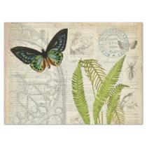 Butterfly Ephemera Decoupage Paper