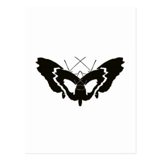 Butterfly Evolution Silhouette Postcard
