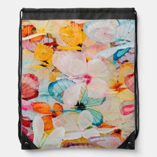 Butterfly exhibit drawstring bag