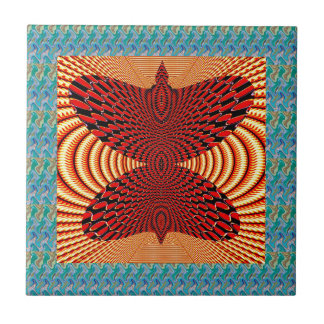 Butterfly Exotic Diamond Infinity Golden Fire GIFT Ceramic Tiles