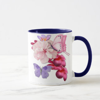 Butterfly Exotic Floral Mug