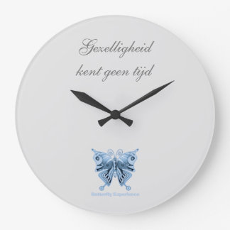 Butterfly Experience bell of shirt to design Large Clock