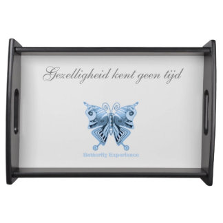 Butterfly Experience server of shirt to design Serving Tray
