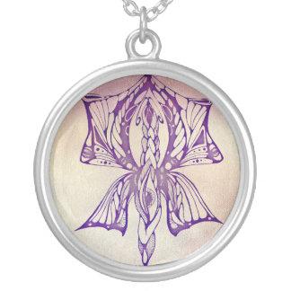 Butterfly eye tattoo necklace