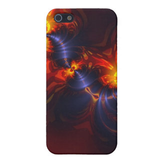 Butterfly Eyes, Abstract Gold Violet Wings iPhone SE/5/5s Case