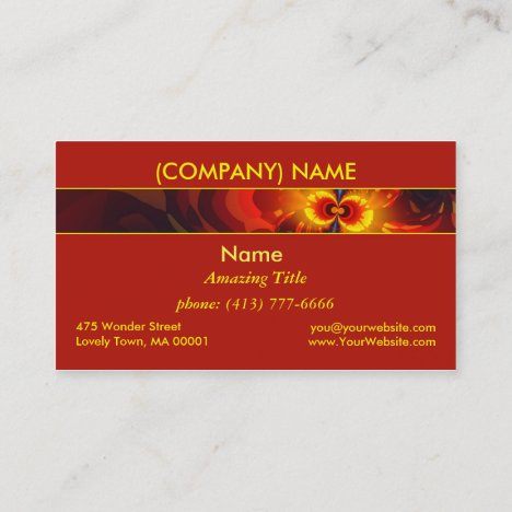Butterfly Eyes, Abstract Gold Violet Wings Modern Business Card